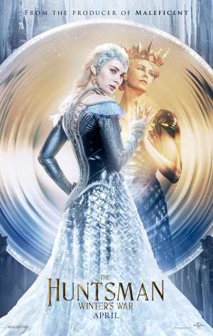 Charlize Theron and Emily Blunt as The Queens. Courtesy of Universal Pictures