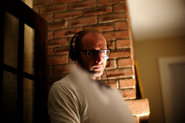 DAVID BEZMOZGIS (director) on the set of his new feature film NATASHA. Courtesy of Mongrel Media. Photo: Eli Reed