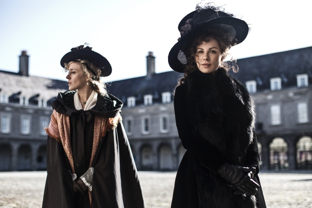 Chloë Sevigny and Kate Beckinsale in Whit Stillman's LOVE & FRIENDSHIP. Photo credit: Ross McDonnell, Courtesy of Amazon Studios and Roadside Attractions .
