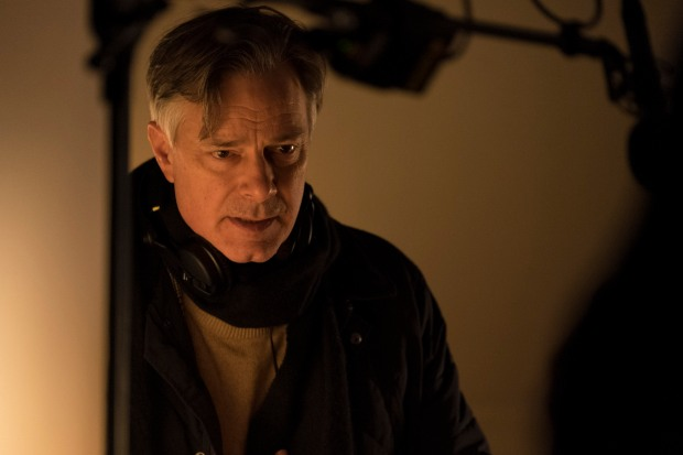 Whit Stillman on the set of LOVE & FRIENDSHIP. Photo credit: Bernard Walsh, Courtesy of Amazon Studios and Roadside Attractions.