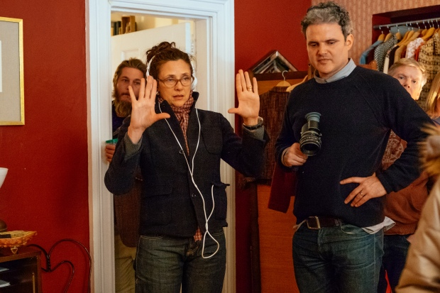 Director Rebecca Miller on Set. Photo by John Pack, Hall Monitor, Inc., Courtesy of Sony Pictures Classics.
