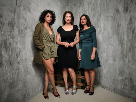 Photo is Courtesy of TIFF and Matt Barnes shot on the iPhone 7 (Sarra Hannachi, Hiam Abbass and Raja Amari)