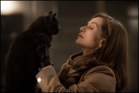 Isabelle Huppert as Michèle. Photo by Guy Ferrandis/ SBS Productions, Courtesy of Sony Pictures Classics.