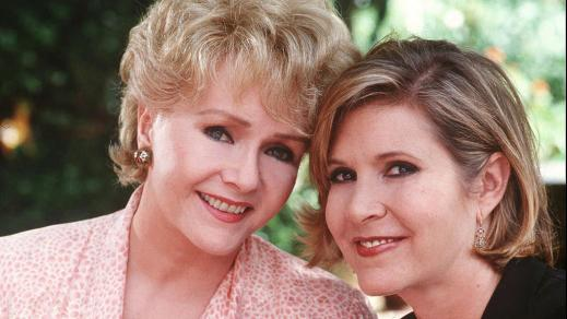 Debbie Reynolds and daughter Carrie Fisher in 1997. (Cliff Lipson / CBS)